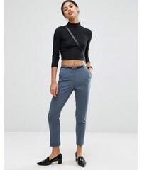 ASOS - Pantalon cigarette avec ceinture - Gris