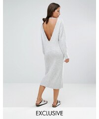 Micha Lounge - Robe pull avec empiècement dos - Gris