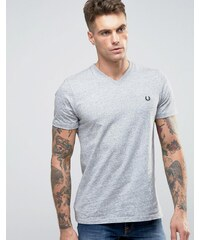 Fred Perry V Neck T-Shirt in Grey - Gris