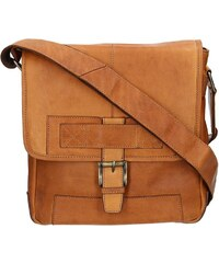 Pánská kožená taška přes rameno Lagen Pascal - hnědá