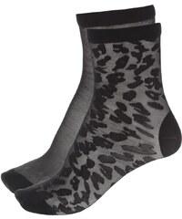 Sada černých silonkových ponožek Pieces Erica