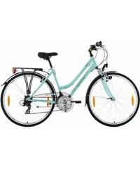 KS CYCLING Damen-Trekkingrad 28 Zoll 21 Gang Shimano Tourney Kettenschaltung Vegas blau RH 48,RH 53