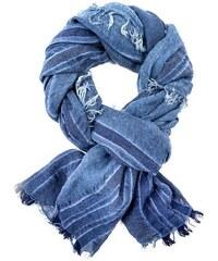 LERROS Damen LERROS gestreifter Schal blau