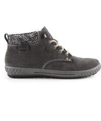 Rieker - Dámské kotníkové boty s ovčí vlnou a TEXovou membránou šíře G M6140-45 / šedá