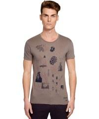 Misericordia Querido collage serpiente - T-shirt - gris