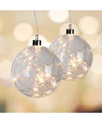 Lesara LED-Hängedekoration Glaskugel - 10 LEDs