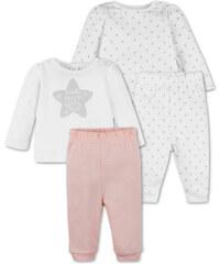 C&A Baby 2er Pack Baby-Pyjamas aus Bio-Baumwolle in Beige