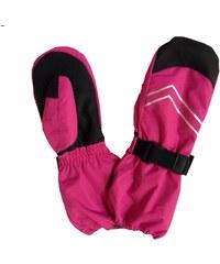 Bugga Dívčí lyžařské palcové rukavice - růžové