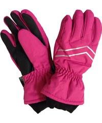 Bugga Dívčí lyžařské prstové rukavice - růžové