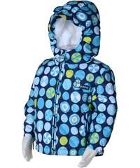 Bugga Chlapecká zimní bunda s kolečky - modrá