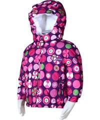 Bugga Dívčí zimní bunda s kolečky - růžová