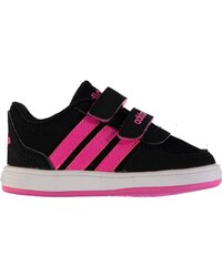 Adidas Hoops Nubuck Trainers Infant Girls, black/pink