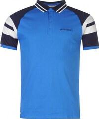 Lambretta Retro Contrast Sleeve Polo Shirt Mens, royal blue