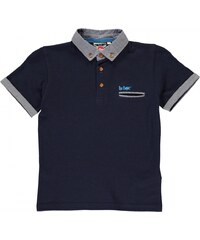 Lee Cooper Chambray Trim Polo Shirt Junior Boys, navy