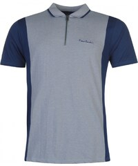 Pierre Cardin Zip Neck Polo Mens, denim blue