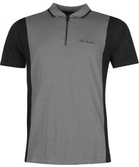 Pierre Cardin Zip Neck Polo Mens, grey marl