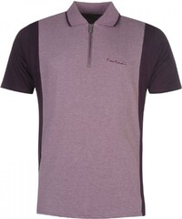 Pierre Cardin Zip Neck Polo Mens, purple
