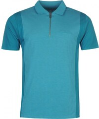 Pierre Cardin Zip Neck Polo Mens, teal