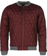 Lee Cooper Quilted Bomber Jacket Mens, burgundy