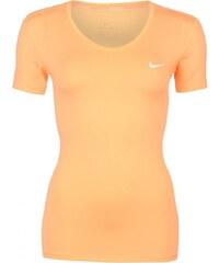 Nike Pro Short Sleeve V Neck Top Ladies, orange