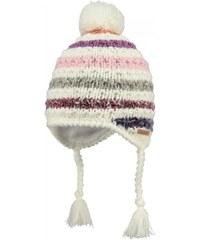 Barts Bonnet enfant - Bonnet peruvien jacquard rayé blanc ivoire rose bébé fille du