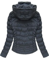 SPEED.A Prošívaná bunda modrá (W701)
