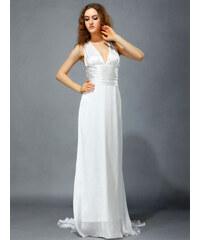 Ever Pretty Elegantní bílé šaty s vlečkou
