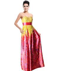 Ever Pretty Dlouhé barevné šaty bez ramínek