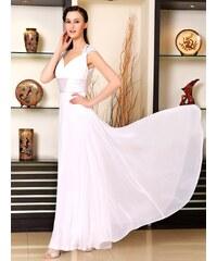 Ever Pretty Dlouhé bílé šifónové šaty inspirované antikou