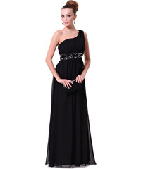 Ever Pretty Černé večerní šaty antického střihu