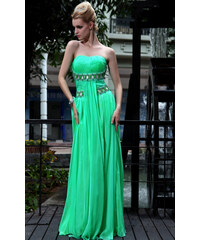 Dorisqueen Nádherné zelené šaty bez ramínek