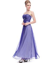 Ever Pretty Modré večerní šaty bez ramínek