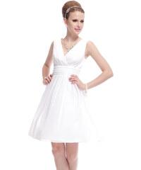 Ever Pretty Jednoduché bílé šaty