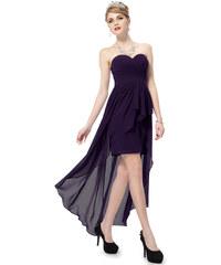 Ever Pretty Tmavě fialové asymetrické šaty