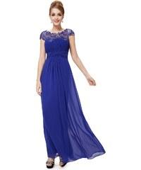 Ever Pretty Modré krajkové šaty