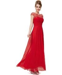 Ever Pretty Červené krajkové šaty