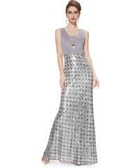 Ever Pretty Šedé šaty s kovovými odlesky