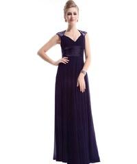 Ever Pretty Tmavě fialové šifonové šaty inspirované antikou