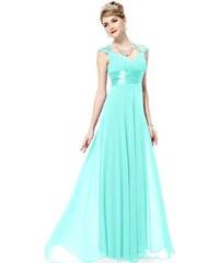 Ever Pretty Tyrkysově modré šifonové šaty inspirované antikou
