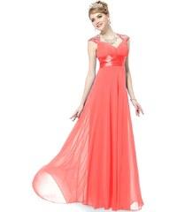 Ever Pretty Melounově červené šifonové šaty inspirované antikou