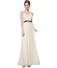 Ever Pretty Béžové šaty s odnímatelnými ramínky