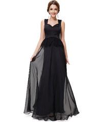 Ever Pretty Černé šaty se širokými ramínky