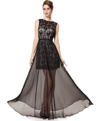 Ever Pretty Černé úchvatné krajkové šaty s holými zády