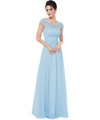 Ever Pretty Světle modré krajkové šaty