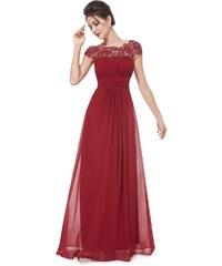 Ever Pretty Vínově červené krajkové šaty