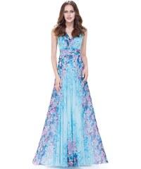 Ever Pretty Modré květované šaty