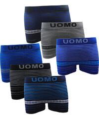 Lesara 6er-Set Boxershorts mit Streifen & Muster - S-M