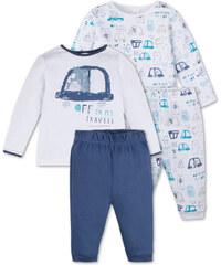 C&A Baby 2er Pack Baby-Pyjamas aus Bio-Baumwolle in weiß