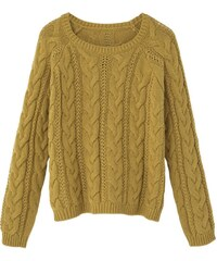 Mango MTRENZA Strickpullover lime