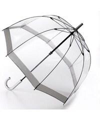 Fulton dámský průhledný holový deštník Birdcage 1 SILVER L041